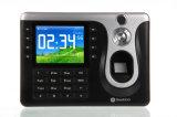 L'orologio di presenza di tempo dell'impronta digitale con la scheda di RFID con il lettore di schede personalizza la funzione