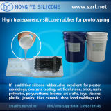 40 translucides Shore un Rapid Prototyping Silicone Rubber, Addition Silicone Rubber avec Low Shrinkage