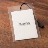 Etiqueta de papel del Hangtag, escritura de la etiqueta del papel del precio para la ropa