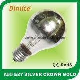 Luz de prata Incandescent da coroa A55