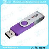 Romántica púrpura del regalo del eslabón giratorio 16GB USB Drive (ZYF1824)