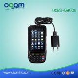 Scanner tenuto in mano del codice a barre dello schermo di tocco PDA