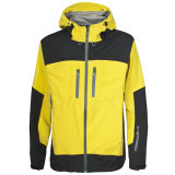 2015 Mens 3 Layers Yellow Waterproof Ski Jacket