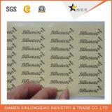 Autoadesivo adesivo di stampa del contrassegno di obbligazione del vinile olografico dell'ologramma del laser 3D