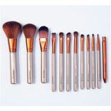 Cheveux synthétiques 12PCS Professional Rainbow Wooden Naked3 Cosmetic Brush