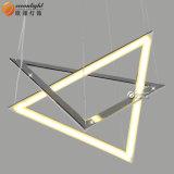 LED 수정같은 펀던트 램프 삼각형 호텔 Om66158를 위한 장식적인 펀던트 램프