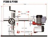 木製の働くスピンドルShaperの跳ね上がりの頻度4車輪力の送り装置(PT - 400)