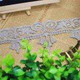 Merletto di nylon di immaginazione della guarnizione del ricamo del poliestere del merletto del commercio all'ingrosso 8cm della fabbrica di larghezza del ricamo del filetto di riserva dell'oro per l'accessorio degli indumenti & le tessile domestiche (BS1080)