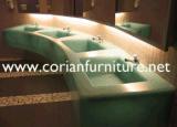 Акриловая твердая поверхность сделала тазиком ванной комнаты коммерчески тазик ванной комнаты