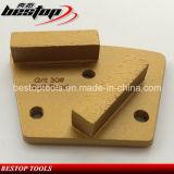 Ferramentas de moagem de concreto com diamante magnético traseiro com furos de parafuso M6