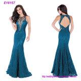 Großhandelsstutzen-Mehrfarbenabend-Kleider der form Frauen-Kleid-V