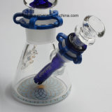 De Nieuwe Waterpijp Shisha 12 Duim 7mm de Rokende Waterpijp Borosilicate van de Glasfabriek van Hfy van het Glas Illadelph met Rokende Pijp van het Glas van de Spaander Milli de Blauwe In het groot