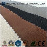 Cuero sintetizado grabado calidad exportado de Microfiber para la tapicería de Furnitre del sofá