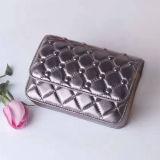 2017 pequeños bolsos de la carpeta del nuevo del diseño de los monederos de la manera cuero de la red para las mujeres Emg4943