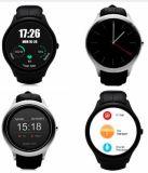 No. 1 D5 relógio esperto impermeável de Bluetooth do Android 4.4 com o Wristband da função do perseguidor da saúde da frequência cardíaca do podómetro com cor de prata de HD IPS