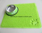 Estera de Placemat Toliet del plato del tazón de fuente del perro de la alfombra del animal doméstico de la impresión de la pata que introduce