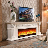 Weiße Skulptur-europäische Heizungs-elektrische Kamin-Hotel-Möbel (321S)
