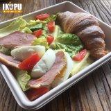 Anti-Fogふたが付いているサラダプレートサンドイッチ皿のパルプテーブルウェア