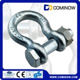 Nós Tipo Drop Forjado Hot DIP Galvanized Anchor Shackle