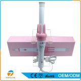 Color de rosa profesional 2 en 1 hierro que se encrespa automático de cerámica de la calefacción de pelo del nanómetro rápido de los bigudíes para el cuidado de pelo