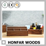 Коробка хранения Soild деревянного грецкого ореха черноты корабля деревянная для дома гостиницы