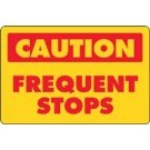 Custom Caution Frequent Stops Truck Decal Reflective Banner