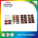 Tarjeta del color de la laca de los muebles para la pintura de madera