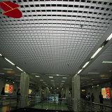 Película quadrada interna do teto da grade do metal, vária cor de madeira opcional disponível