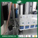 Superior y bajar la máquina de etiquetado de la etiqueta engomada de dos caras para la botella cosmética