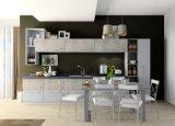 現代デザイン功妙な印刷および青いメラミン台所家具の単位