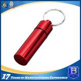Mini aluminium anodisant le trousseau de clés rouge de Gallipot (Ele-Keychain503)