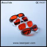 266nm, 355nm, 405nm, anteojos protectores de 532nm del laser/vidrios ultravioletas y verdes de la protección de ojo (GHP-2 200-540nm) con el marco 52