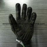 Черный полный мотоцикл напольных спортов перста кожаный участвуя в гонке перчатки (MAG72)