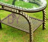 옥외 고급 여가 PE 등나무 정원 테이블 및 의자