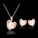Joyería determinada del collar del pendiente pendiente de la perla del Rhinestone de la manera