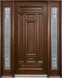 Porte extérieure à la maison en bois antique des métiers 1d+2SL d'arts (GSP1-032)