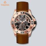 Edelstahl-automatischer Uhr-Mann-lederne Brücke-Luxuxmann Wristwatch72298