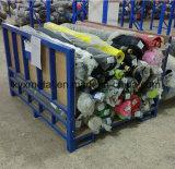 Armazém industrial de matéria têxtil que empilha o Stillage de Rolls da tela da cremalheira do armazenamento