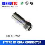 Tipo masculino torcedura del conector impermeable de F en el cable Rg58/Rg59/RG6