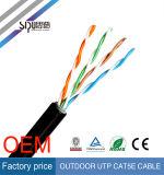 Câbles imperméables à l'eau de ftp Cat5e de prix bas de Sipu de câble extérieur de réseau
