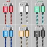 Cabo de dados trançado da sincronização do carregador do USB do nylon colorido