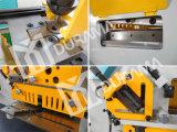 Ironworker hidráulico com entalhadura, perfuração e corte de funções