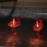 Indicatore luminoso decorativo a forma di del fenicottero di plastica LED (26-1P1618)