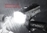 Phare imperméable à l'eau rechargeable de la bicyclette DEL, lumière avant du vélo 5W lumineux superbe, lampe de 220 lumens, remplissage de 1200 heures-milliampère USB, noir