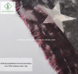 Neue Retro amerikanische Flagge gedruckte dickflüssige Form-Dame Scarf des Schal-2017