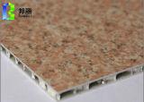 Alta calidad de aluminio revestida del panel del panal del grano de piedra para la construcción usar el panel de pared