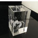 3D Kubus van het Blok van het Glas van het Kristal van de Gravure van de Laser Lege voor Herinnering