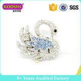 Broche de alta qualidade de cristal de metal de cristal Swan