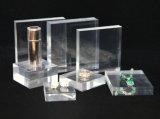 Canalisation verticale acrylique faite sur commande de bloc d'étalage de Jewrlry