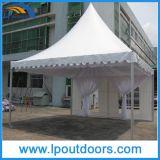 tente chinoise de pagoda de chapeau de restauration imperméable à l'eau blanche élégante neuve de 5X5m